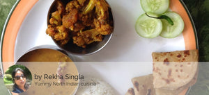 Dal Panchrangi, Gobhi Aloo, Jeera Rice and Roti - Optional - Buttermilk 350 ML -  - Homely - By Rekha Singla - 1
