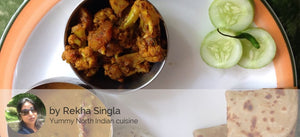 Dal Panchrangi, Gobhi Aloo, Jeera Rice and Roti - Optional - Buttermilk 350 ML -  - Homely - By Rekha Singla - 2