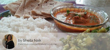 Bangda Fish Curry in Malvani (Coastal Maharashtrian) style with Rice, Capsicum bhaji and Roti -  - Homely - By Sheila Naik - 2
