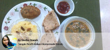 Aloo Palak pattice, Sprouted moong gravy, Ghee chapatis with Meetha Chawal -  - Homely - By Sindhu Brarath - 2