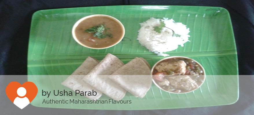 Paneer Chilly, Roti(3 Nos), Dal & Rice -  - Homely - By Usha Parab