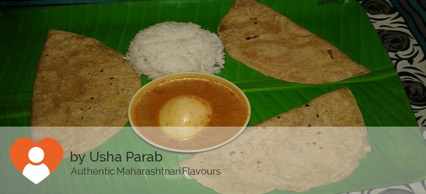 Egg Curry,  Chapatis (3 Nos ),  With Steamed Rice , -  - Homely - By Usha Parab