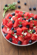 Homely Greens: Watermelon-Blueberry Feta Salad
