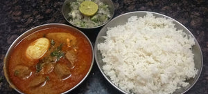 Mutton Curry with Steamed Rice and Salad - Optional - Watermelon Juice -  - Homely - By Arnavaz Karanjia - 1