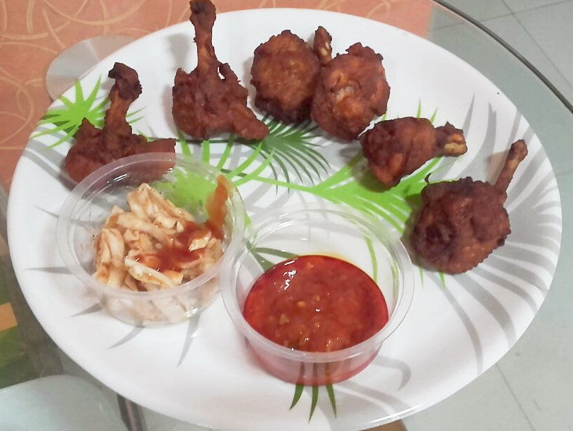 Chicken Lollypop 6 Pieces Served with Schezwan Dip & Pickled Cabbage -  - Homely - By Ashok Thakur
