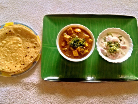 Matter Paneer Masala, Butter Roti -  - Homely - By Prachi Mishra