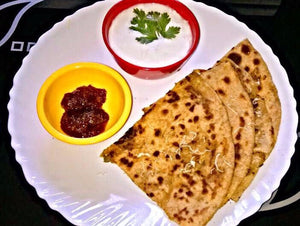 Aloo Paratha(4), Curd, Pickle and Dessert - Vermicelli Kheer -  - Homely - By Prachi Mishra
