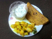 Aloo Sabji & Doodhi Thepla (6) with Chaas