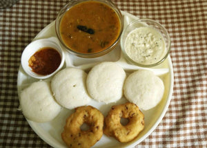 Idli  Sambhar with Medu wada & Idli Podi  (Powder)