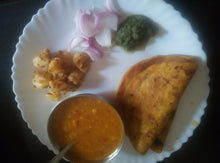 Aloo Jeera, Chana Dal, Dal, Roti(3), Rice and Salad