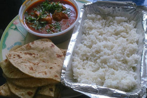Malvani Chicken Curry and Bhakri 2 or 3 Chapati,  &  Rice