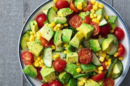 Homely Greens: Avocado Salad with Corn