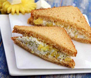 Pineapple, celery and cottage cheese sandwich