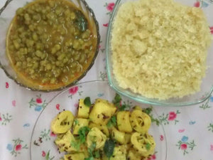 Lapsey (Sweet Daliya), Moong and Khandvi