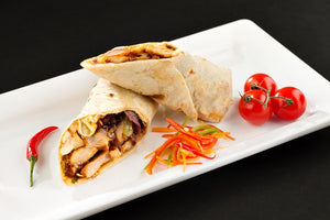 Chicken Chilly Wrap with Schezwan Sauce