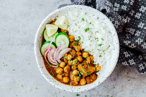 Homely Mini Treat: Chole Masala with Rice & Salad