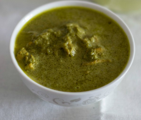 Green Coriander - Chicken Curry with Rice & Kuchumber