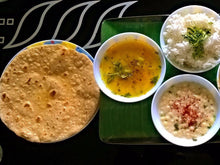 Matter Paneer Masala, Dal fry Tadka, Steamed Basmati rice, Butter /ghee Chapaties with Dessert -  - Homely - By Prachi Mishra - 2