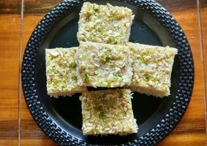 Coconut and Pissta Barfi ( 250 gm)