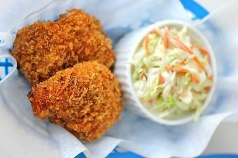 Chicken Cutlets (2) with coleslaw