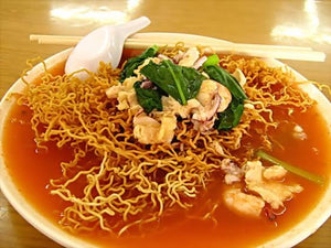 Crispy Noodles with tomato Gravy