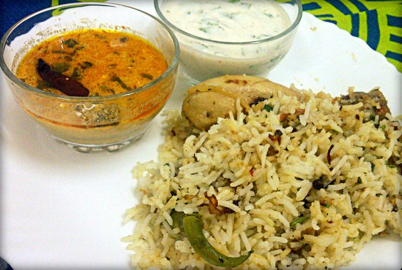 Chicken Pulav with Raita