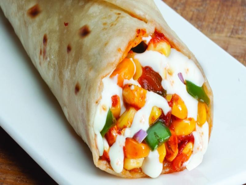 Homely Mini Treat: Paneer Cheese Mayoneese Wrap
