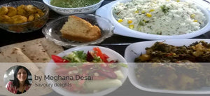Aloo Methi, Roast Arabi, Dal fry with Corn flavoured Rice, Green Salad and Special Cake slice/ muffin -  - Homely - By Meghana Desai - 1