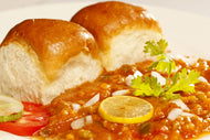 Pav Bhaji with Butter Pav and Onion Salad