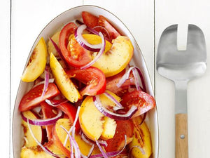 Homely Greens: Tomato-Peach Salad