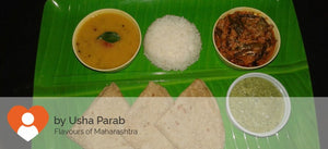 Bhindi Masala Dal Rice Chapati( 3Nos ) with coconut chutney -  - Homely - By Usha Parab