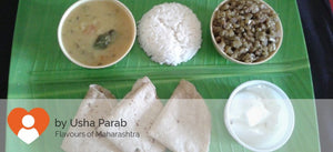 Chawli ki Sabji, Dal, Rice, Chapati (3) and Curd -  - Homely - By Usha Parab