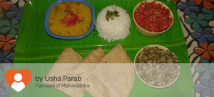 French Beans ki Sabzi, Dal, Rice & Rotis (3 Nos), Salad -  - Homely - By Usha Parab