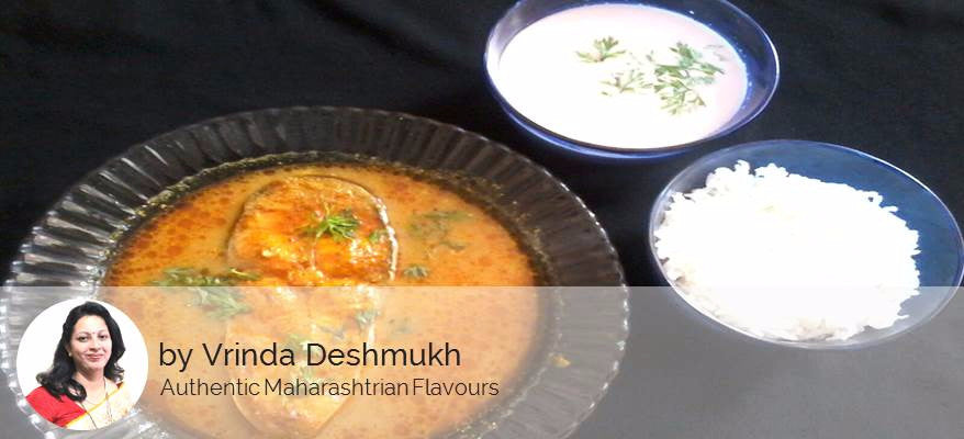 Basa Fish curry, Solekadhi with Rice, Salad & Sweet surprise -  - Homely - By Vrinda Deshmukh