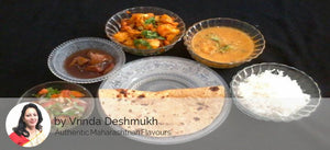 Stuffed Paneer Masala, Pakoda,(Snack) Achar, Roti, And Rice, Sweet -  - Homely - By Vrinda Deshmukh