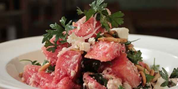 Homely Greens: .Watermelon, Olive and Feta Salad