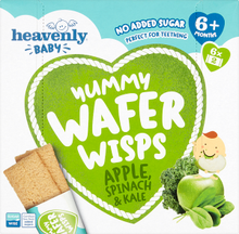 Load image into Gallery viewer, Heavenly baby Yummy Wafer Wisps, Spinach Apple & Kale