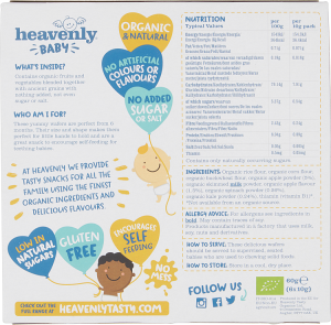 Heavenly Baby | Yummy Wafer Wisps | Apple, Spinach and Kale | 1 Case (5 x60G) 6months+ |Organic