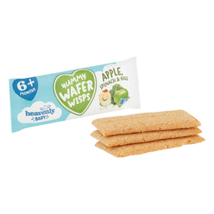 Yummy Teething Wafers out of pack, Healthy Baby snacks out of pack