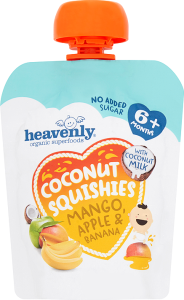 Coconut Squishie Mango, Apple and Banana, (10 x90G) 1 Case