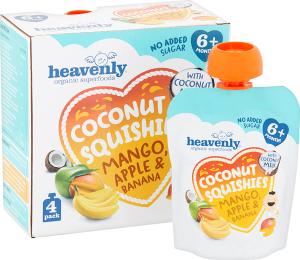 Coconut Squishies Mango Apple & Banana Multipack (5 x 360G = 20 x 90G pouches) 1 case
