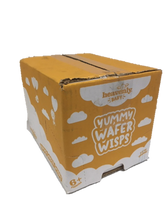 Load image into Gallery viewer, Heavenly Baby | Yummy Wafer Wisps | Banana & Pumpkin | 1 Case containing 14 x 14g Packs | 6 Months+ Organic