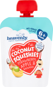Coconut Squishie Strawberry, Apple and Banana
