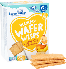 Load image into Gallery viewer, Yummy Wafer Wisps Pumpkin and Banana 14 g (Pack of 6, Total 36 Packets)