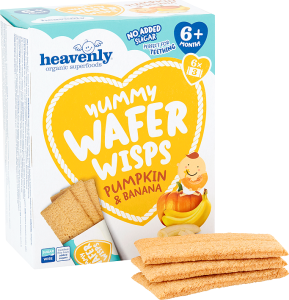 Yummy Wafer Wisps Pumpkin and Banana 14 g (Pack of 6, Total 36 Packets)