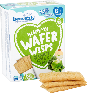 Yummy Wafer Wisps Spinach, Apple & Kale 14 g (Pack of 6, Total 36 Packets)