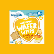 Load image into Gallery viewer, Yummy Wafer Wisps, Banana & Pumpkin, 60g