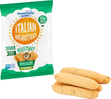 Load image into Gallery viewer, Heavenly Kids | Italian Breadsticks | Rosemary | 1 Case containing 7 x 30g packs | 12 Months+ (Organic)