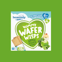 Load image into Gallery viewer, Yummy Wafer Wisps, Apple, Spinach & Kale 60g