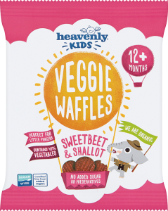 Heavenly Kids, Veggie Waffles, Sweetbeet and Shallot, 10g